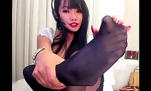 Asian Goddess in web camera crippling pantyhose takes all She wants from me
