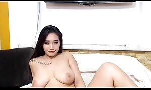Hot Asian Cam-girl with Big Titties Cam-show