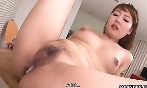 Risqu' Japanese gal receives finger banging and top-drawer with creampie