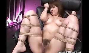 Submissive Japanese Girl Upon Asian Sadomasochism Action With Multiple Masters And Vibrators