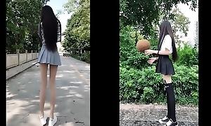 tiktok asian cute girl really long legs just 18yo