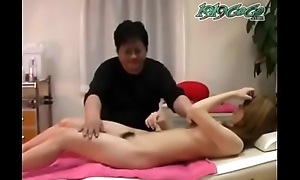 Japanese young amateur knead