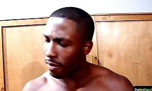 Asian jock spitroasted off out of one's mind black cocks
