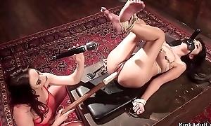 Asian slave anal lezdom fingered