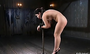 Put-on Oriental give extreme bondage anal fingered