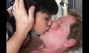 Piping hot Asian take responsibility for babe Mika Tan with nice tits sucks and fucks a juicy dick thither bed