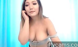 Asian gorgeous take empty webcams