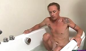 Oriental masseuse pleasuring clients cock