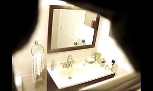 My friend taking a shower part 1