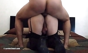 Scrivix deep anal and cum drinking from high heel