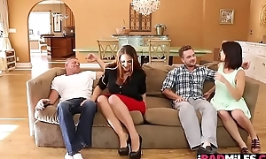 Miss Raquel rides will not hear of milf wet pussy on Kyle Masons hard young cock on top!