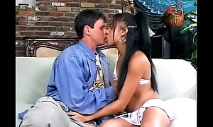 Hot ebony babe Jada Hug with exotic slut Asia get their pussies and assholes screwed by two white chaps