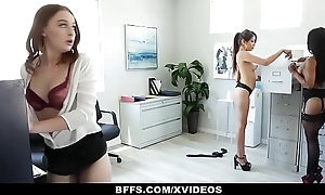 BFFS - Horny Interns Share Load of shit With Their Boss