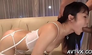 Hunk fingers asian babe'_s curly pussy until it'_s full of wetness