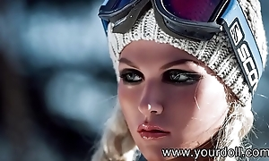 Yourdoll Sexy blonde busty sex doll, oral-sex anal deepthroat fantasies