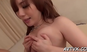 Naughty japanese darling shares her juicy bushy fur pie