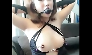 02.Homemade Cute Chinese Girl Playing SM with Day - GirlSeekers.com