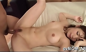 Doxy milf takes detailed dildo in ass and cunt while she moans