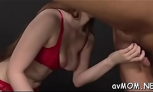 Pretty oriental mamma statisfies personally with virator on cunt with the addition of tits