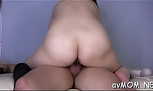Milf mama moans in the long run b for a long time getting nipple licked increased by cock to suck