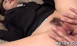 Raucous doggy position indoctrinate for pretty asian chick