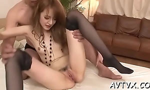 Japanese chick'_s bawdy cleft is exceedingly juicy wean away from stud'_s kinky toying