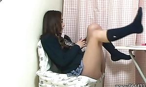 Upskirt the Japanese Schoolgirl Miniskirt from Under the Writing-desk