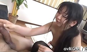 Floozy mom sucks two big cocks like a lollipop, abrading cum