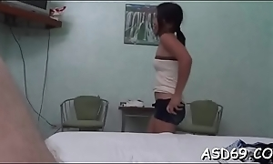 Thai girl grinds on a cock and gets it in the brush cunt and anal