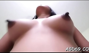 Alluring cutie licks her boyfriend increased by gives a fantastic impetus