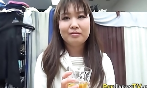 Japanese floosie drinks piss