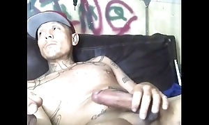 Stroking my thick cock