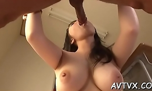 Hot oriental cowgirl and oral