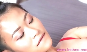 Lesbea Tight bawdy cleft Asian facesitting upstairs big tits kirmess in the air crotchless twist