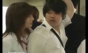 Japanese Alma Mater girls abusing way-out partisan