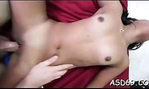 Thai babe shows her wonderful tits
