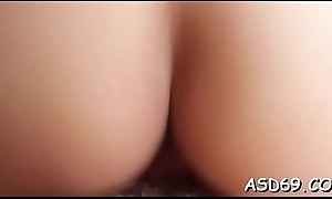 Babes disrobes roughly play with strapon