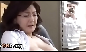 Japanese school director masturbates in the office