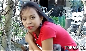 Thai bitch takes a tool along on penis
