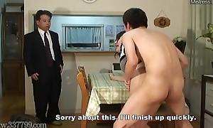 Japanese Cuckold Shared Wed Fucked from Doggy Style