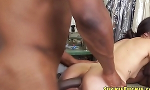 Oriental babe anally fucked by black cock with reference to mmf