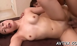 Toying a horny japanese adore tunnel