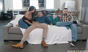 Tanned Asian girl copulates her hubby's friend right before be beneficial to him