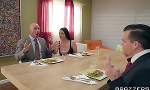 Brazzers housewife tempted her husband's business strong right arm