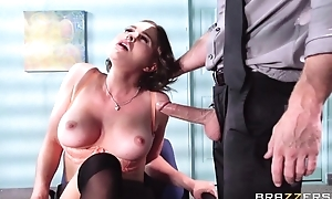 Buxom brunette copulates the brush new boss by way of the interview
