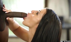 All-natural porn indulge gets drilled hard hard by 3 horny black studs