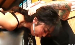 Beautiful Asian lady empties impetuous throbbing cock