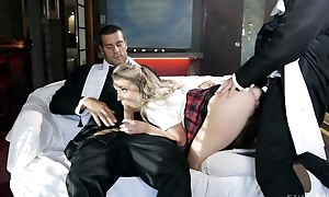 Mischievous schoolgirl gets fucked fast at the end of one's tether 3 horny preachers