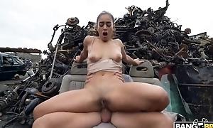 XXX Spanish girl receives screwed hard at some wicked junkyard