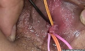 Galumph Asian babe Ryo Akanishi got her nasty pussy toyed